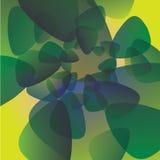 Groen achtergrondgloedpatroon Stock Fotografie