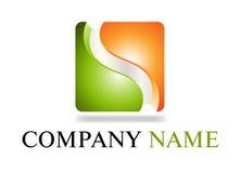 Groen & Oranje embleem Royalty-vrije Stock Afbeeldingen