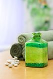 Groen badzout Stock Afbeelding