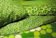 Groen Beddegoed Royalty-vrije Stock Afbeeldingen