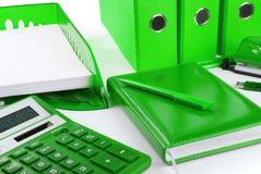 Groen bedrijfsstilleven Stock Afbeeldingen