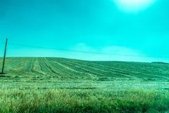 Groen, Bergen, Landbouwbedrijven en Gebieden op de rand van Ronda stock afbeeldingen