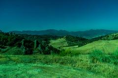 Groen, Bergen, Landbouwbedrijven en Gebieden op de rand van Ronda royalty-vrije stock fotografie