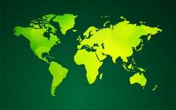 Groen bio de aardthema van de wereldkaart Royalty-vrije Stock Foto