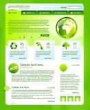 Groen biowebsitemalplaatje Royalty-vrije Stock Fotografie