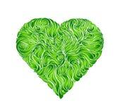 Groen blad, in de vorm van hart vector illustratie