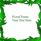 Groen blad helder bloemenkader als achtergrond Royalty-vrije Stock Afbeeldingen