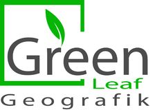 Groen Bladembleem en malplaatje Stock Foto