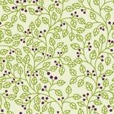 Groen bladerenornament Stock Afbeeldingen