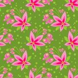 Groen bloemen naadloos patroon Royalty-vrije Stock Foto's