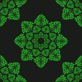 Groen bloemen naadloos patroon van groene gestileerde bladeren stock afbeelding