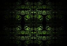 Groen bloemenbehang Stock Afbeelding