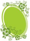 Groen bloemenframe Stock Fotografie