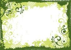 Groen BloemenFrame royalty-vrije illustratie