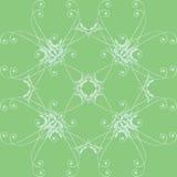 Groen bloemenpatroon Stock Afbeeldingen