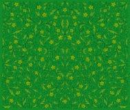 Groen BloemenPatroon Royalty-vrije Stock Foto