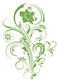 Groen bloempatroon Royalty-vrije Stock Fotografie