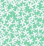 Groen bloempatroon Stock Afbeelding
