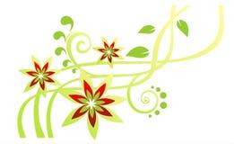 Groen bloempatroon Stock Afbeeldingen