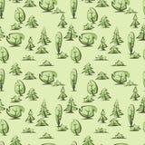 Groen bomenpatroon Royalty-vrije Stock Foto's