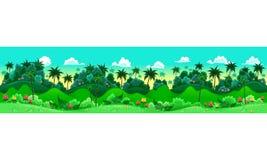 Groen bos. royalty-vrije illustratie