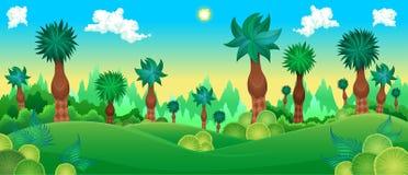 Groen bos royalty-vrije illustratie