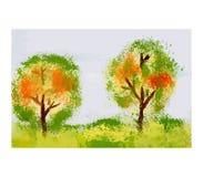 Groen bos, illustratie Royalty-vrije Stock Fotografie