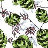 Groen bospatroon royalty-vrije illustratie