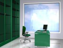 Groen bureau Stock Illustratie
