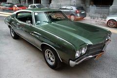 Groen Chevrolet Malibu Royalty-vrije Stock Fotografie