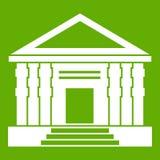 Groen colonnadepictogram Royalty-vrije Stock Afbeelding