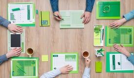 Groen commercieel team stock fotografie