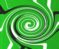 Groen Criss Cross Vortex Background royalty-vrije illustratie