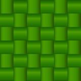 Groen Criss Cross Woven Pattern Royalty-vrije Stock Foto