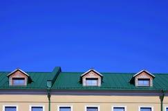 Groen dak royalty-vrije stock afbeeldingen
