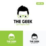 Groen de het Embleem/het Pictogram Vectorontwerpzaken Logo Idea van Geek Stock Foto