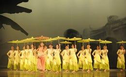 Groen de jaar-tweede handeling van de gebeurtenissen van dans drama-Shawan van het verleden Stock Foto's