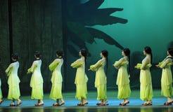 Groen de jaar-tweede handeling van de gebeurtenissen van dans drama-Shawan van het verleden Royalty-vrije Stock Afbeelding