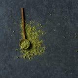 Groen de theepoeder van Matcha Royalty-vrije Stock Foto's