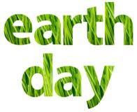 Groen de Woordenconcept van de Aardedag Stock Afbeeldingen