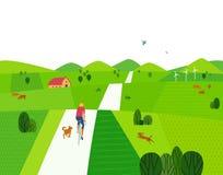 Groen de zomerlandschap royalty-vrije illustratie