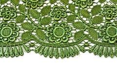 Groen decoratief kant royalty-vrije stock fotografie