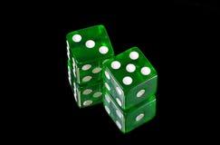 Groen dobbel royalty-vrije stock foto's