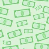 Groen dollars naadloos patroon vector illustratie