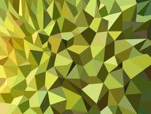 Groen Durian-schil laag poly abstract vectorontwerp als achtergrond Royalty-vrije Stock Afbeeldingen