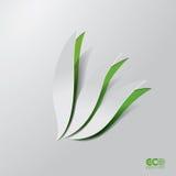 Groen Eco-concept - Abstract blad. Royalty-vrije Stock Foto's