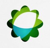 Groen eco ongebruikelijk concept als achtergrond - bloemen stock illustratie