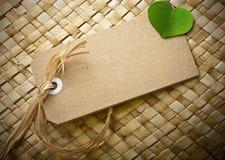 Groen eco vriendschappelijk bericht, lege markering Royalty-vrije Stock Foto