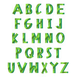 Groen ecoalfabet Stock Foto's