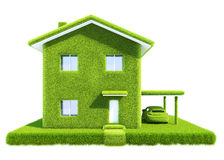 Groen ecohuis Stock Afbeeldingen